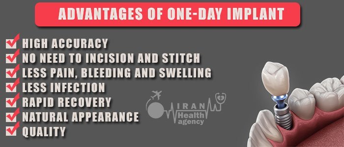 advantages of one-day dental implant