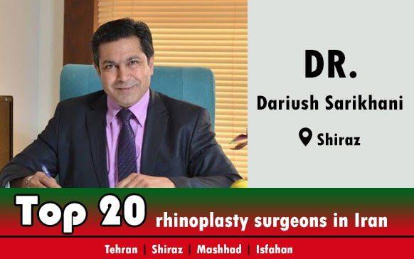 Dr.Dariush Sarikhani rhinoplasty surgeons in Shiraz Iran