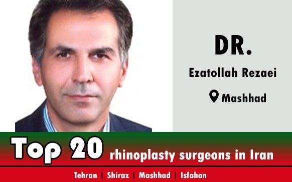 Dr.Ezatollah Rezaei rhinoplasty surgeons in Mashhad Iran