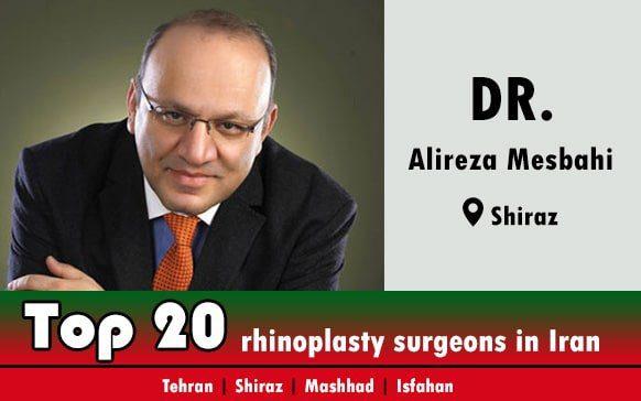 Dr.Seyed Alireza Mesbahi rhinoplasty doctor in Shiraz Iran